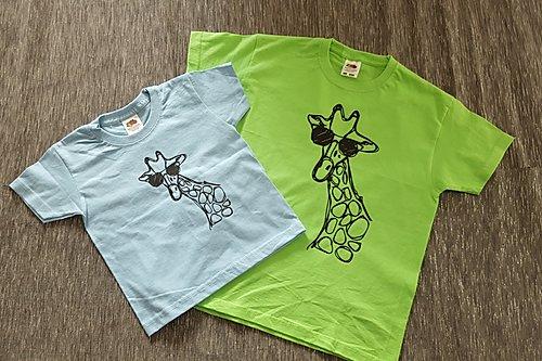T-Shirt Girls Blue/Lime