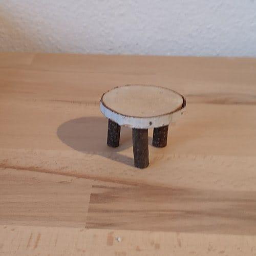 Holzblock Tisch